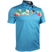 Short Sleeve Polo - Magnum IP - Turks/Cyan