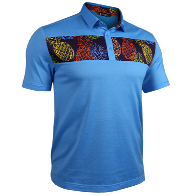 Short Sleeve Polo - Magnum IP - Pina/Cyan
