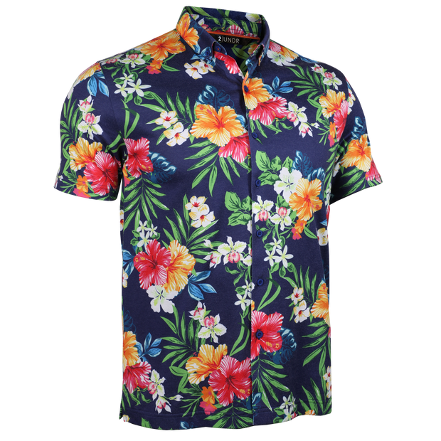 Short Sleeve Buttondown Polo - Tourist - Tahiti