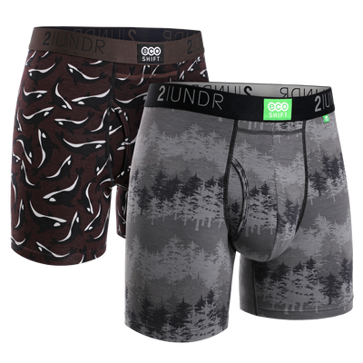 Eco Shift Boxer Brief 2 Pack - Forest - Pods