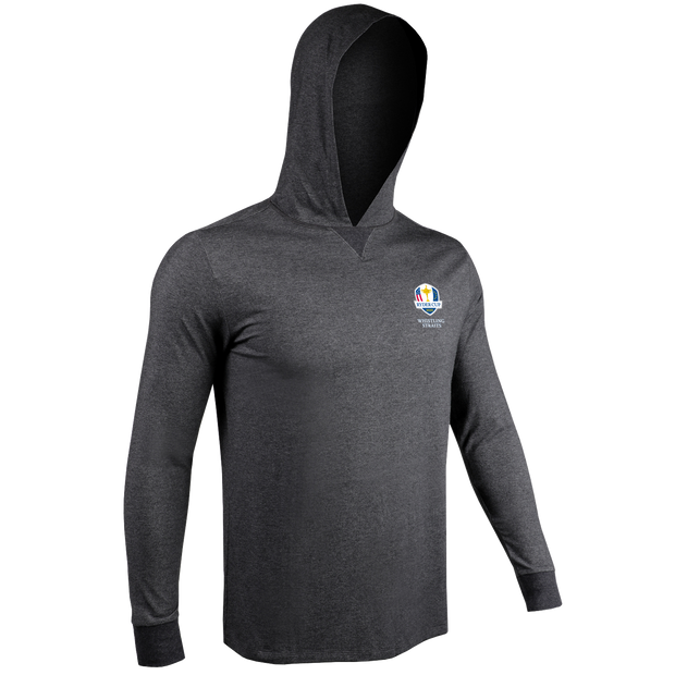 Ryder Cup Long Sleeve Hooded Tee - Charcoal