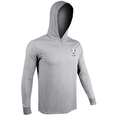 Ryder Cup Long Sleeve Hooded Tee - Grey