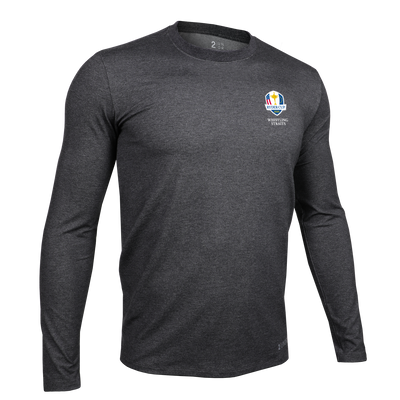 Ryder Cup Long Sleeve Crew Tee - Charcoal