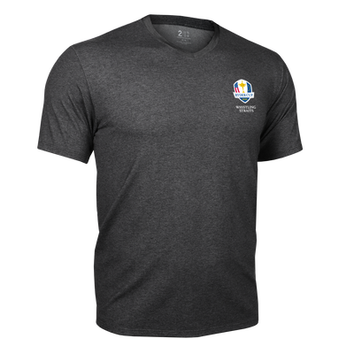 Ryder Cup V Neck Tee - Charcoal
