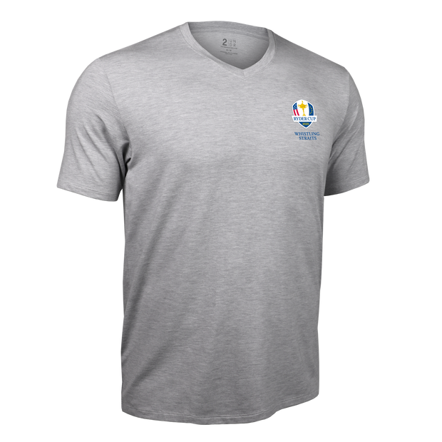 Ryder Cup V Neck Tee - Grey