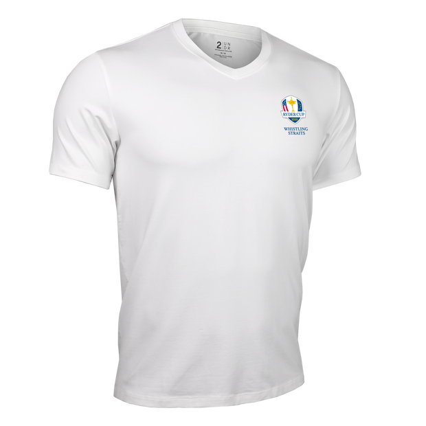 Ryder Cup V Neck Tee - White