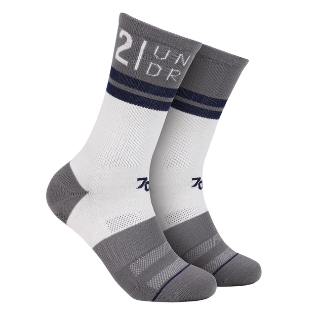 70 Crew Sock - White/Grey