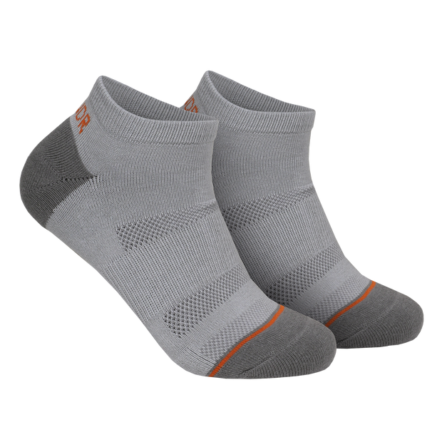 Groove Ankle Sock 3 Pack  - Grey