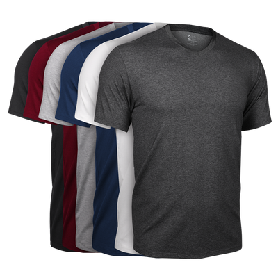 V Neck Tee - Basics 6 Pack