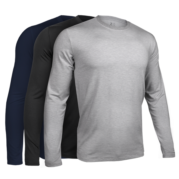 Long Sleeve Crew Tee - Basics 3 Pack