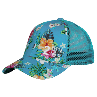 Snap Back  Mesh Print Hat - Turks