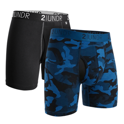 Swing Shift Boxer Brief 2 Pack - Black - Night Camo