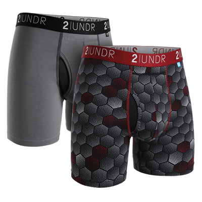 Swing Shift Boxer Brief 2 Pack - Grey - Jupitor