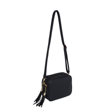 Black Dolly Double Zip Cross Body Bag