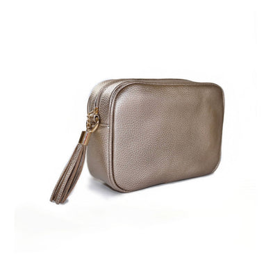 Rose Gold Dolly Single Zip Cross Body Bag