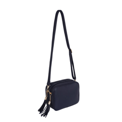 Navy Dolly Double Zip Cross Body Bag