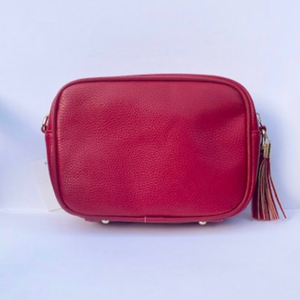 Red & Silver Stripe Bag Strap