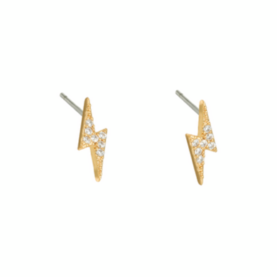Fleur Bolt Stud Earrings