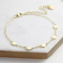 Load image into Gallery viewer, Iris Disc Bracelet, Gold