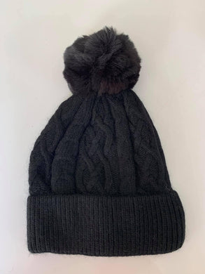 Billie Bobble Hat, Black