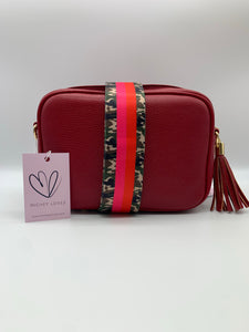 Dark Red Dolly Single Zip Cross Body Bag