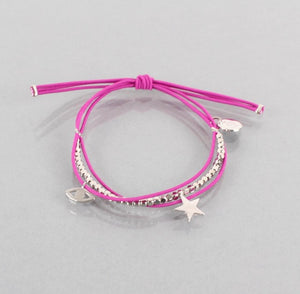 Gracie Star Bracelet Silver, Available in Four Colours