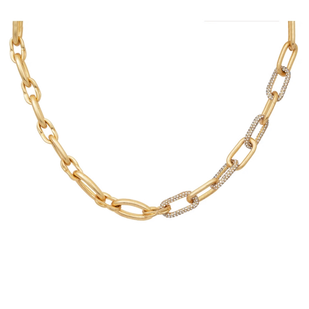 Gold Chunky Link Chunky Necklace