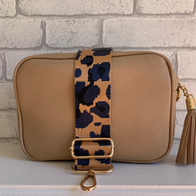 Load image into Gallery viewer, Taupe Dolly Single Zip Cross Body Bag