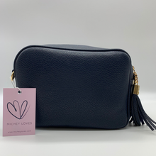 Load image into Gallery viewer, Navy Dolly Single Zip Cross Body Bag