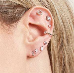 Delicate Zircon Ear Cuff, Available in Gold or Silver