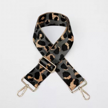 Load image into Gallery viewer, Grey & Taupe Cheetah Bag Strap