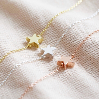 Estrella Bracelet, available in gold, rose and silver