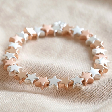 Starry Shine Bracelet, Silver & Rose Gold