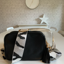 Load image into Gallery viewer, Silver & Black Camo Bag Strap