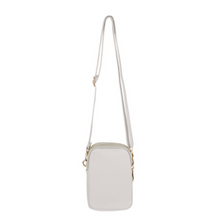 Load image into Gallery viewer, Triple Zip Mini Dolly Cross Body Bag, Pale Grey - Back Soon