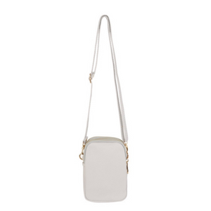 Triple Zip Mini Dolly Cross Body Bag, Pale Grey - Back Soon