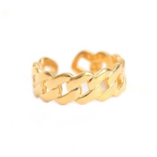 Load image into Gallery viewer, Riley Chain Ring, Gold