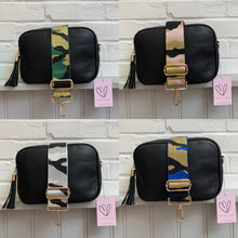 Load image into Gallery viewer, Pale Pink, Gold & Black Camo Bag Strap
