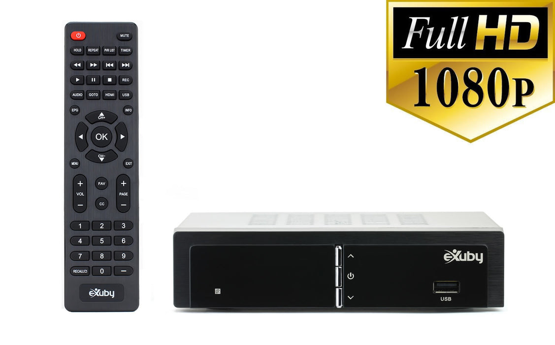 eXuby Digital TV Converter Box 1668 - Get Rid of Cable Bills - View and Record Local HD Digital Channels for Free - Instant or Scheduled Recording, 1080P HDTV, Electronic Program Guide