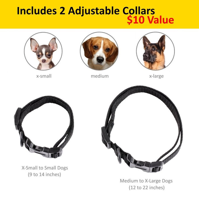 eXuby Shock Collar for Small Dogs with Remote - Small & Medium and Training Clicker – 3 Modes (Sound, Vibration & Shock) with Rechargeable Batteries