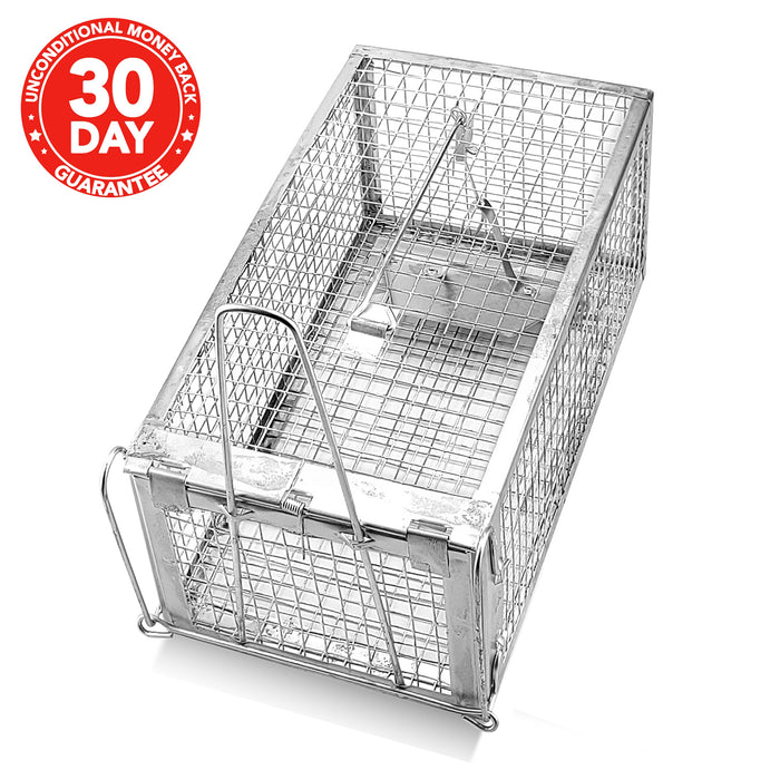 Classic Humane Mouse Trap with Steel Construction - Catch Mice Without Harm