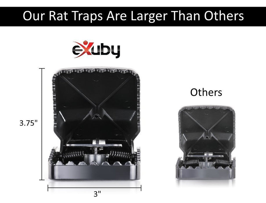Most Effective and Large Powerful Rat Trap on the Market - (4 to 24 pack)