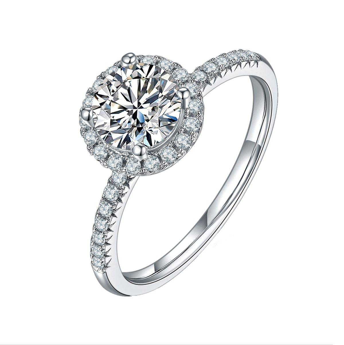 BAGUE CIRCLE ROW MOISSANITE