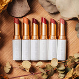 Pure Theory Semi matte lipstick product banner all colors