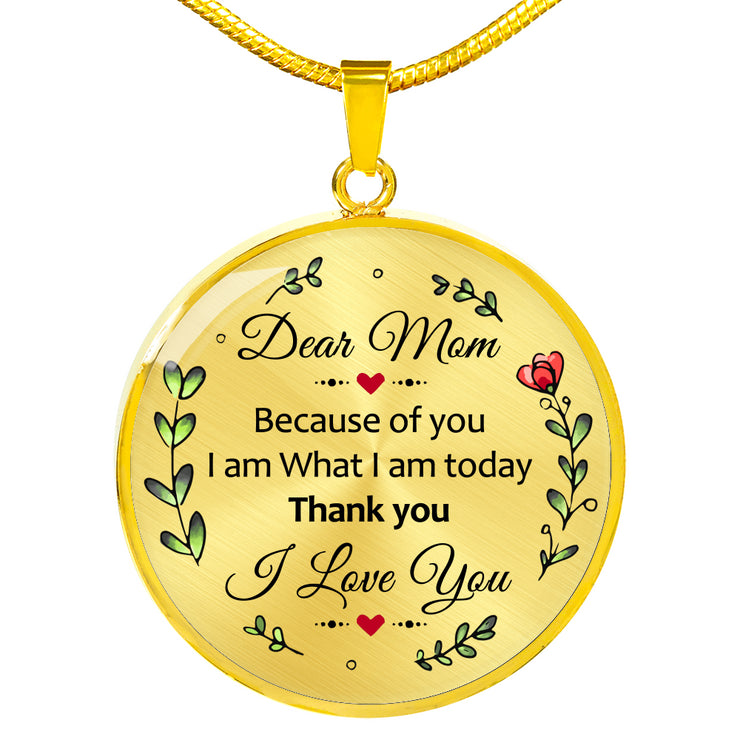 Dear Mom Because Of You I Am What I am Today