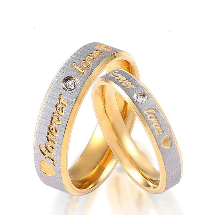 Custom Name Forever Love Gold Plated Stainless Steel Ring
