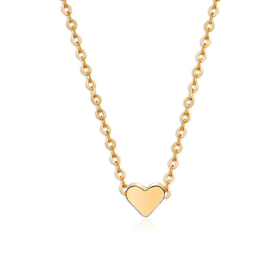 Peach Heart Alloy Necklace