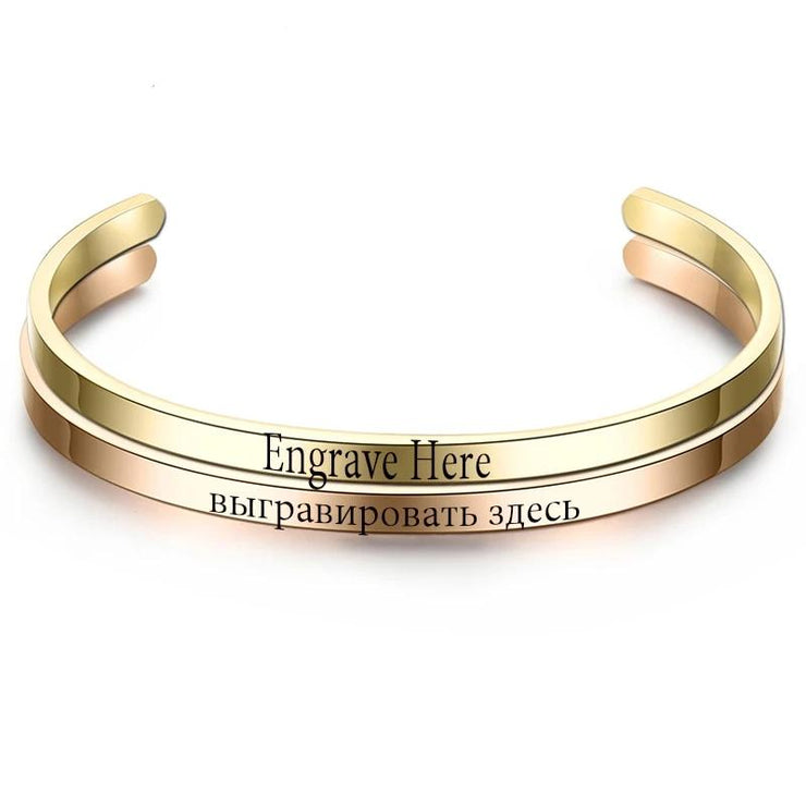 Customized Engraved Bracelet