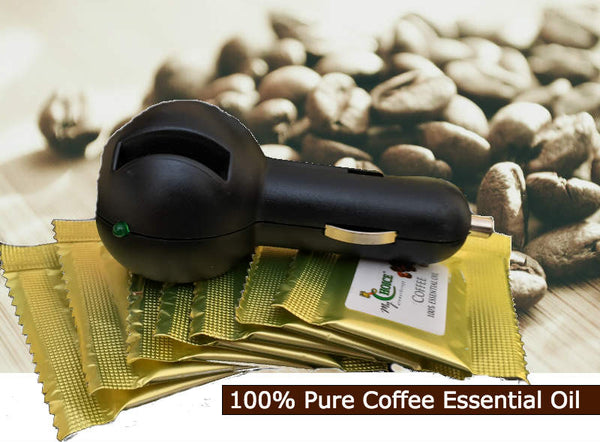 8 COFFEE Car Air Fresheners from 100% Pure COFFEE Essential Oil - Includes Diffuser - myChoice Aromatherapy
