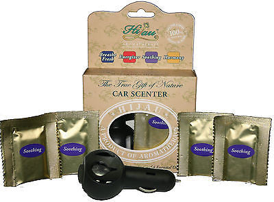 8 SOOTHING Lavender & Ylang Ylang Natural Car Air Fresheners - Includes Diffuser - myChoice Aromatherapy
